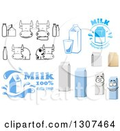Clipart Of White Milk Designs Royalty Free Vector Illustration by Vector Tradition SM