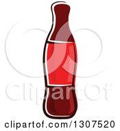 Clipart Of A Cartoon Soda Bottle Royalty Free Vector Illustration