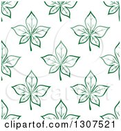 Seamless Background Pattern Of Green Maple Leaves
