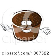 Clipart Of A Cartoon Rye Bread Character Pointing Royalty Free Vector Illustration