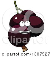 Clipart Of A Cartoon Currants Character Royalty Free Vector Illustration