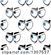 Clipart Of A Seamless Pattern Background Of Mad Eyes 2 Royalty Free Vector Illustration by Vector Tradition SM