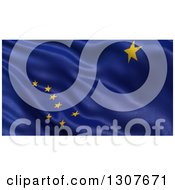 Clipart Of A 3d Rippling State Flag Of Alaska USA Royalty Free Illustration