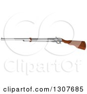 Clipart Of A Western Cowboy Rifle Shot Gun Royalty Free Vector Illustration