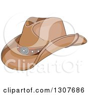 Clipart Of A Cartoon Cowboy Hat Royalty Free Vector Illustration by Pushkin