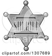 Clipart Of A Sherriff Star Badge Royalty Free Vector Illustration
