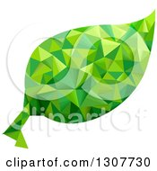 Clipart Of A Geometric Green Leaf Royalty Free Vector Illustration by BNP Design Studio