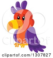Clipart Of A Cute Wild African Parrot Royalty Free Vector Illustration by visekart
