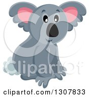 Clipart Of A Wild Koala Royalty Free Vector Illustration by visekart