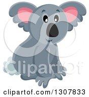 Clipart Of A Wild Koala Royalty Free Vector Illustration