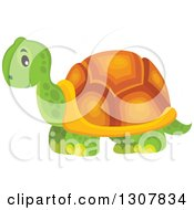 Clipart Of A Wild African Tortoise Royalty Free Vector Illustration
