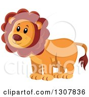 Clipart Of A Wild African Male Lion Royalty Free Vector Illustration