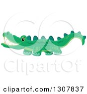 Clipart Of A Wild African Crocodile Royalty Free Vector Illustration
