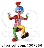 3d Clown Character Walking
