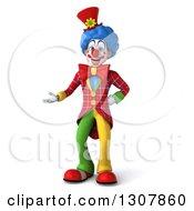 3d Clown Character Presenting