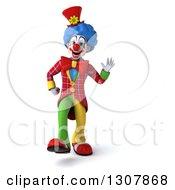 3d Clown Character Walking 3