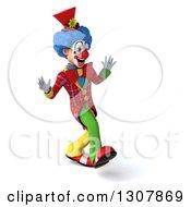 3d Clown Character Walking 4