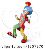 3d Clown Character Walking 5