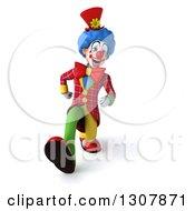 3d Clown Character Speed Walking