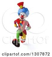 3d Clown Character Running