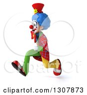 3d Clown Character Running To The Left