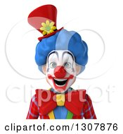 Clipart Of A 3d Clown Character Avatar Royalty Free Illustration