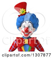 Clipart Of A 3d Clown Character Avatar 2 Royalty Free Illustration
