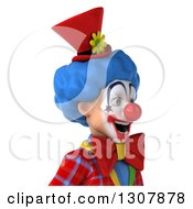 Clipart Of A 3d Clown Character Avatar Facing Right Royalty Free Illustration