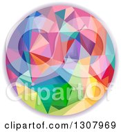 Clipart Of A Colorful Geometric Circle Royalty Free Vector Illustration