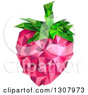 Clipart Of A Geometric Strawberry Royalty Free Vector Illustration by BNP Design Studio