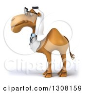 Clipart Of A 3d Bespectacled Arabian Doctor Camel Facing Left 2 Royalty Free Illustration