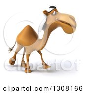 Clipart Of A 3d Arabian Camel Walking Slightly To The Right 2 Royalty Free Illustration