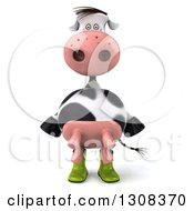 Clipart Of A 3d Gardener Cow Wearing Rubber Boots Royalty Free Illustration by Julos