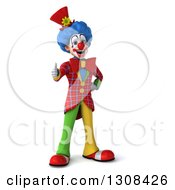 3d Clown Character Giving A Thumb Up