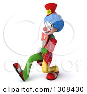 3d Clown Character Speed Walking To The Left