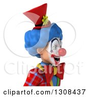 Clipart Of A 3d Clown Character Avatar Smiling And Facing Right Royalty Free Illustration