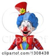 3d Clown Character Avatar Smiling
