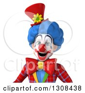 Clipart Of A 3d Clown Character Avatar Smiling Royalty Free Illustration
