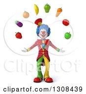 3d Clown Character Juggling Produce