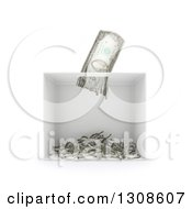 Clipart Of A 3d Shredder Shredding A Banknote On White Royalty Free Illustration