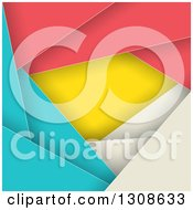 Clipart Of A Geometric Colorful Abstract Background Of Layers Royalty Free Vector Illustration