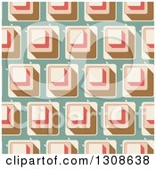 Clipart Of A Seamless Background Of Retro Cubes On Green Royalty Free Vector Illustration by KJ Pargeter