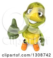 Clipart Of A 3d Tortoise Turtle Gardener In Rubber Boots Holding Up A Thumb Royalty Free Illustration
