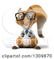 Clipart Of A 3d Bespectacled Doctor Or Veterinarian Squirrel Royalty Free Illustration by Julos