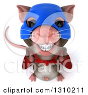 Clipart Of A 3d Super Hero Mouse With Braces Smiling Upwards Royalty Free Illustration by Julos