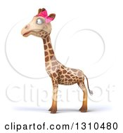 Clipart Of A 3d Female Giraffe Facing Left Royalty Free Illustration by Julos