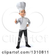 Clipart Of A 3d Young White Male Chef Giving A Thumb Up Royalty Free Illustration