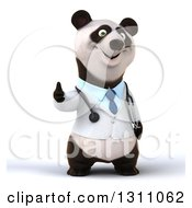 Clipart Of A 3d Doctor Or Veterinarian Panda Giving A Thumb Up Royalty Free Illustration by Julos