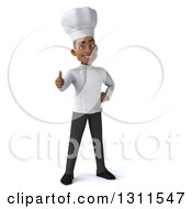 3d Young Black Male Chef Giving A Thumb Up