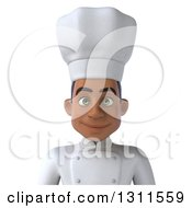 Clipart Of A 3d Avatar Of A Young Black Male Chef Royalty Free Illustration